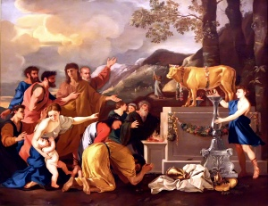 Adoration_of_Golden_Calf_Poussin_1629